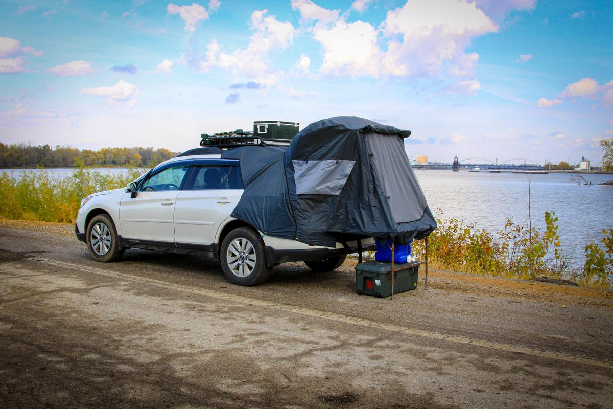 Part wagon, part tent, part RV ... and a healthy hint of Pontiac Aztek