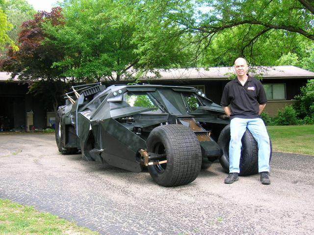 Bob Dullam and his Batmobile Tumbler replica