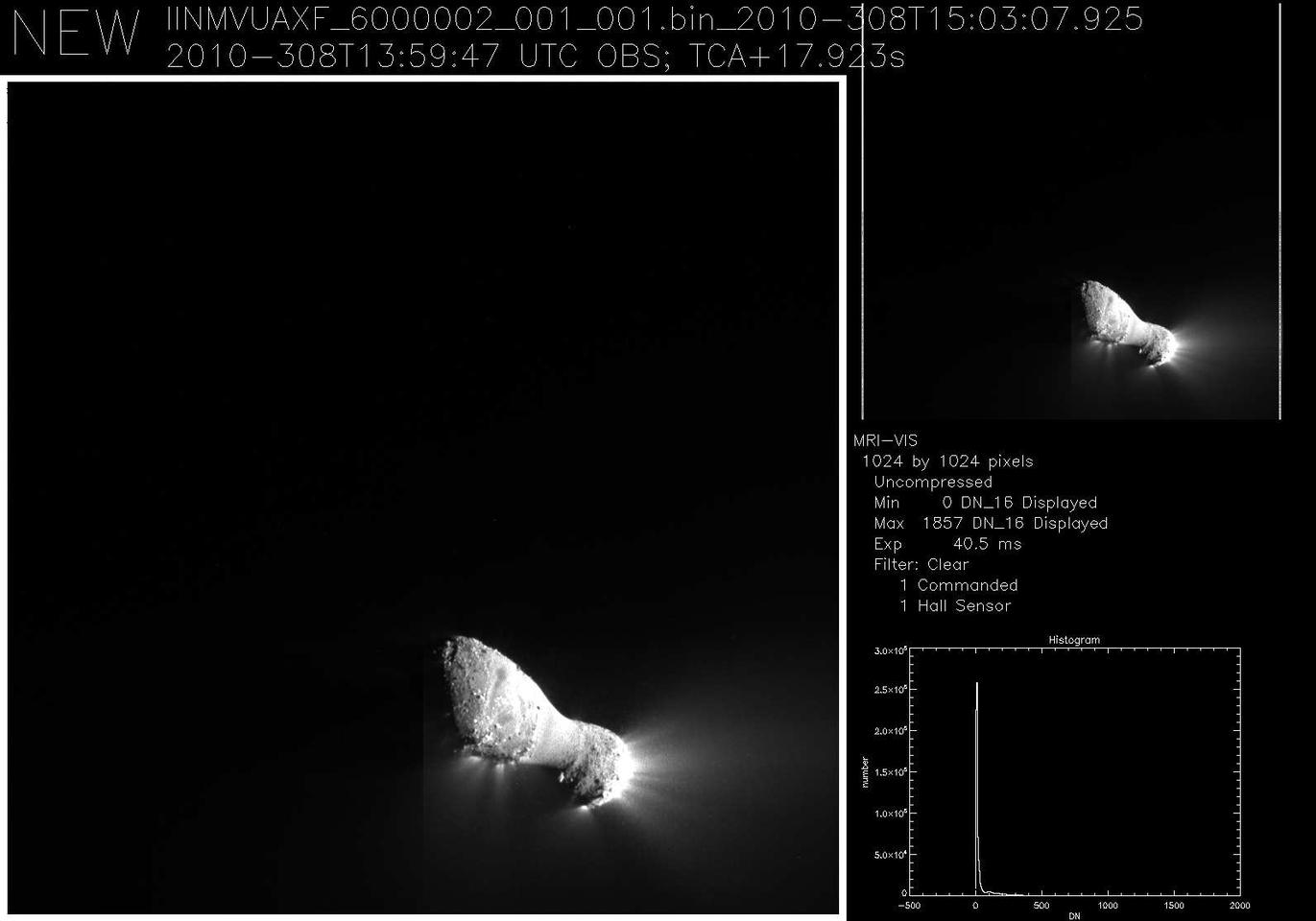 The peanut-shaped Hartley 2 comet is only the fifth comet to be studied at such close range (Image: NASA)