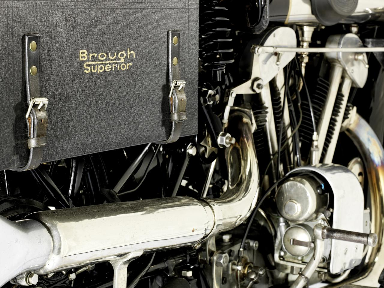 The one liter V-twins from Brough Superior and Vincent are the world's two most sought-after motorcycles - that's a fact. Now two perfect examples will cross the block on the same day. This Alpine Grand Sports Brough will most likely become one of the top ten most expensive motorcycles.