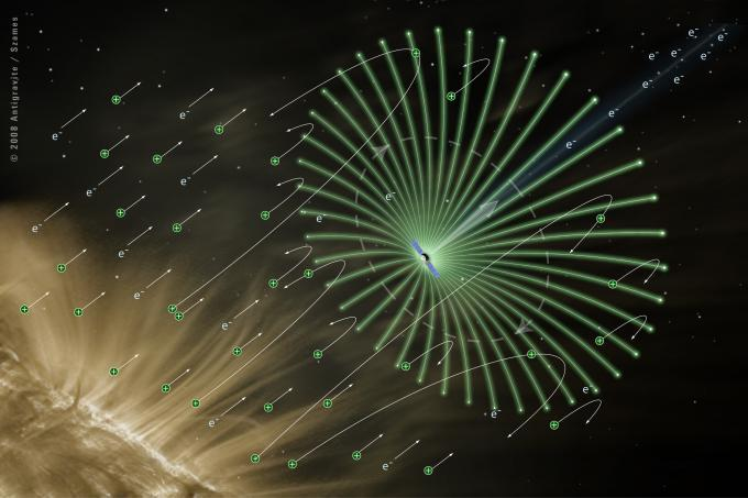 Artist's concept of an electric solar sail (Image: ESTCube)
