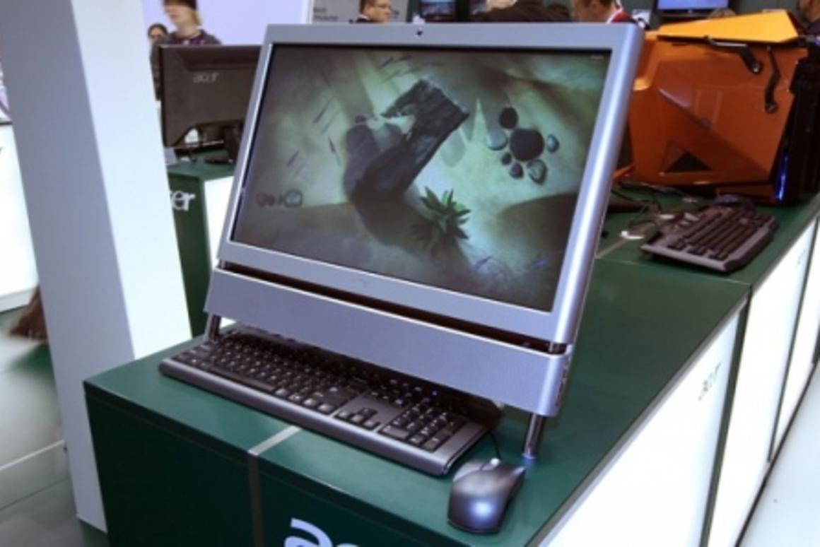 The Acer Aspire Z5610 all-in-one desktop PC