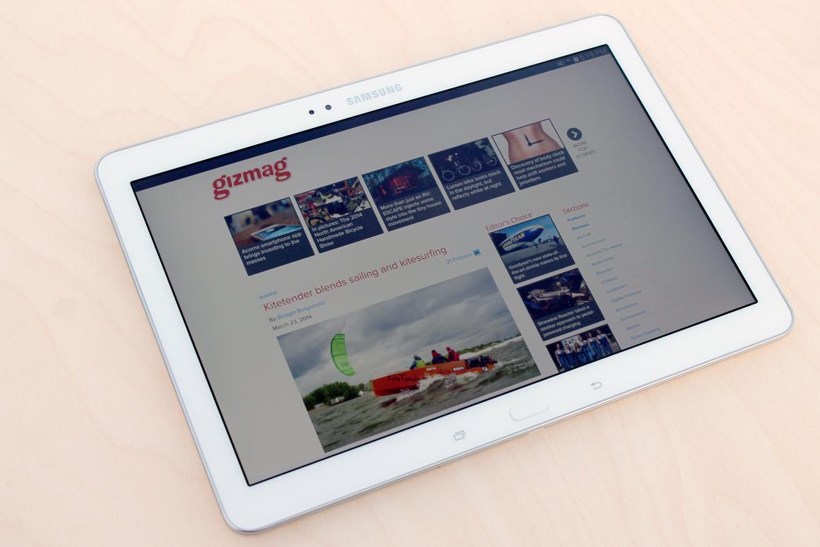 Gizmag reviews the Samsung Galaxy Tab Pro 10.1