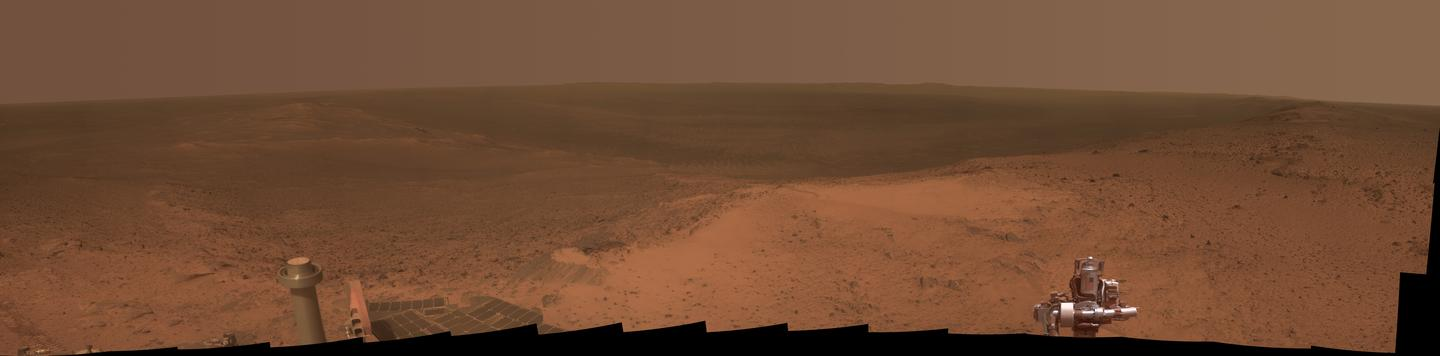 NASA's Opportunity rover captures a stunning panorama to celebrate its 11th anniversary on Mars (Image: NASA/JPL-Caltech/Cornell Univ./Arizona State University)