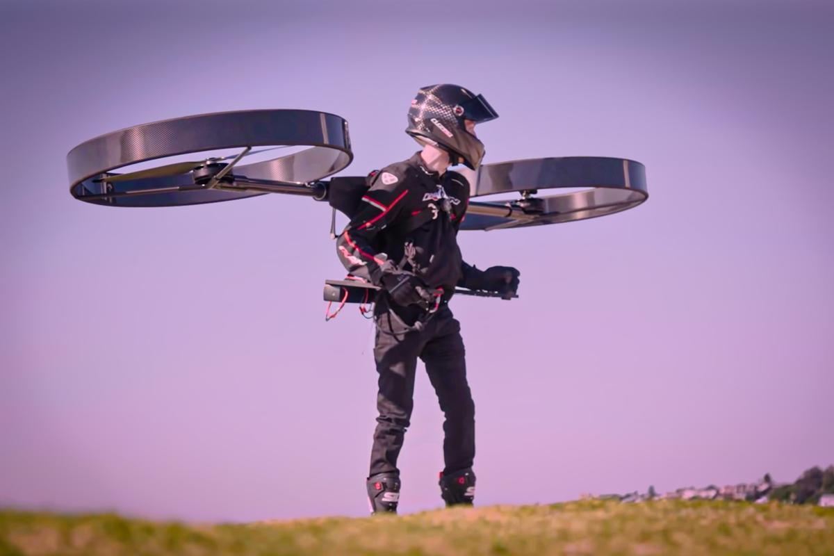 The Copterpack is a two-prop electric manned multirotor under development in Australia