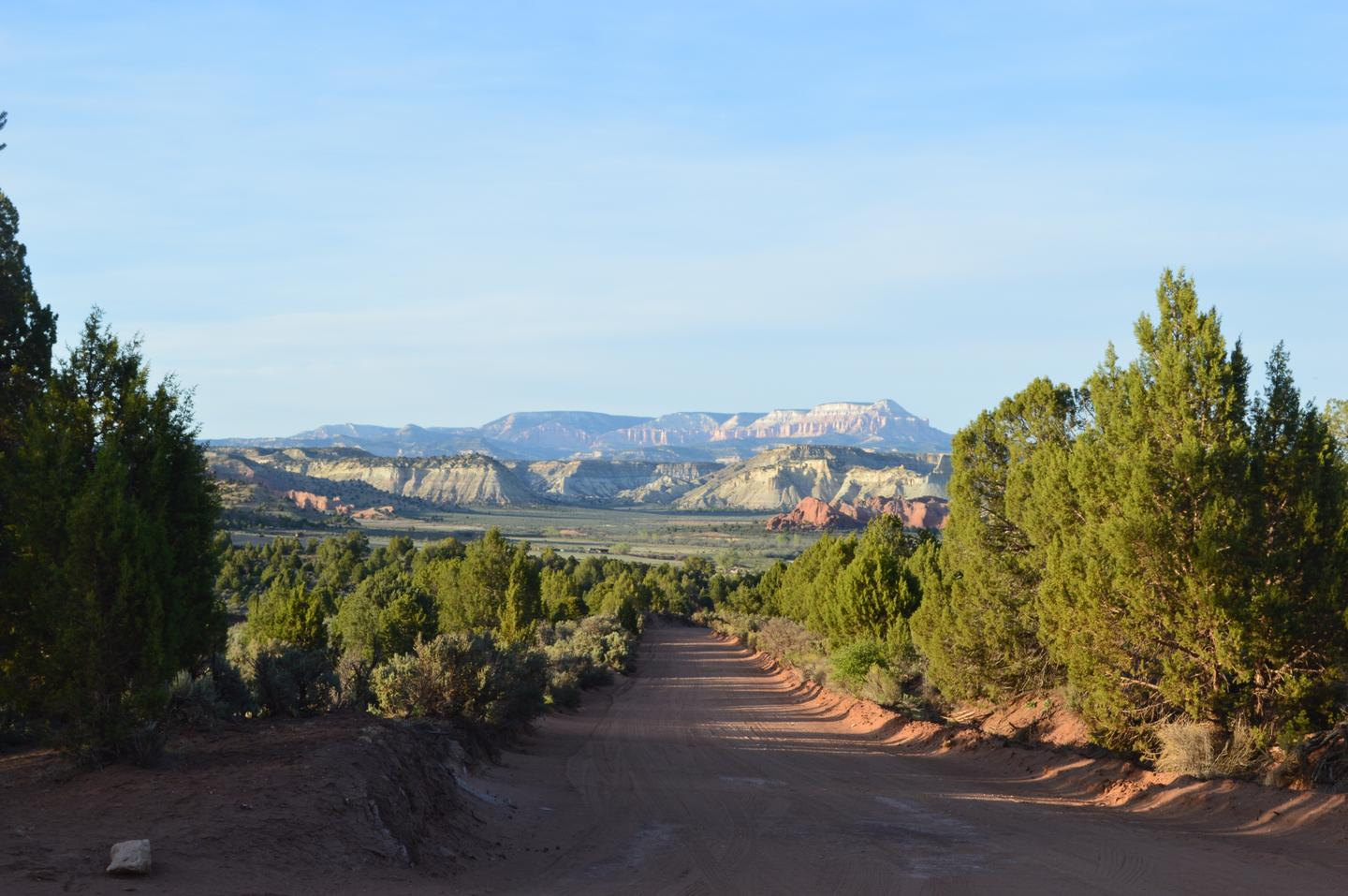 After about five hours of highway driving, I continued south on Skutumpah Road in Grand Staircase