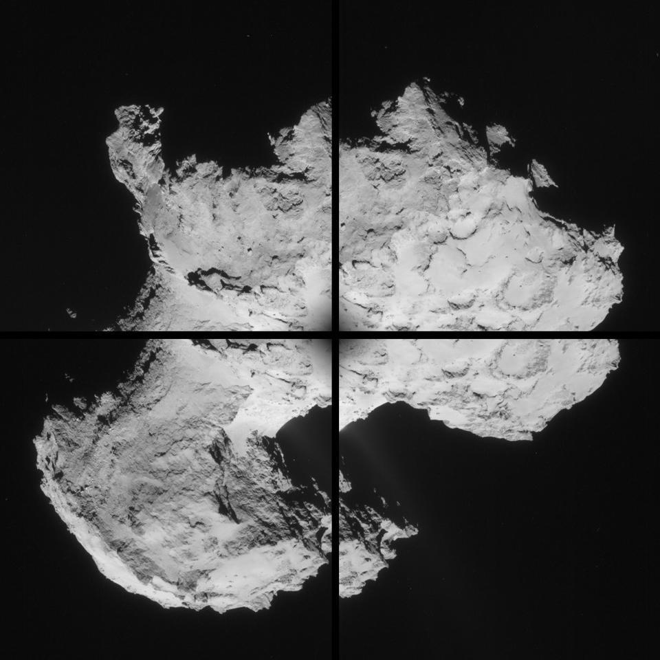 Mosaic of 67P/Churyumov-Gerasimenko (Image: ESA)