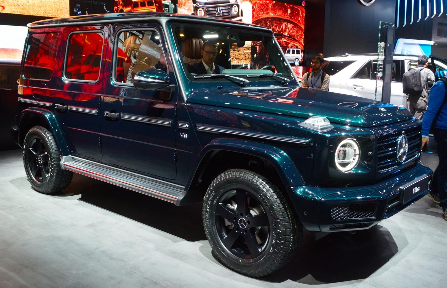 The new G-Class on display at Detroit NAIAS: front 3/4