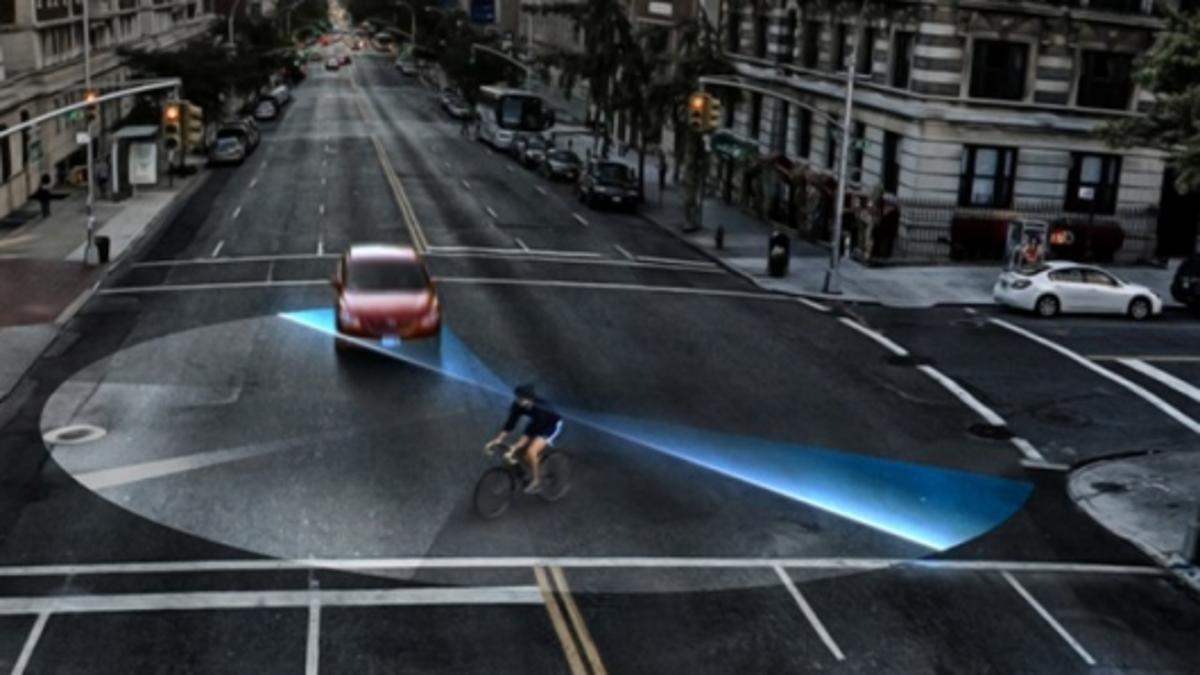 City cyclists could benefit from the extended peripheral vision provided by the Nike Hindsight glasses