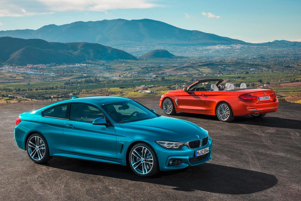The new BMW4 Series Coupe and Convertible side-by-side