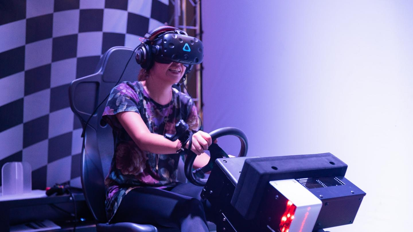 Mario Kart uses the original HTC Vive VR headset