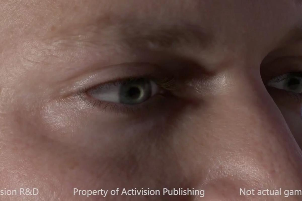 Close-up: dramatic lighting enhances the look of Activision R&D's real-time character