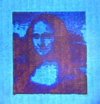 The Mona Lisa, laser-printed at nanoscale