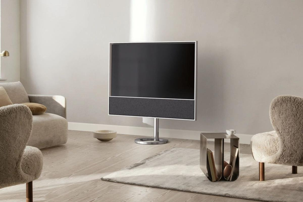 The Beovision Contour features a 48-inch 4K OLED screen and built-in soundbar