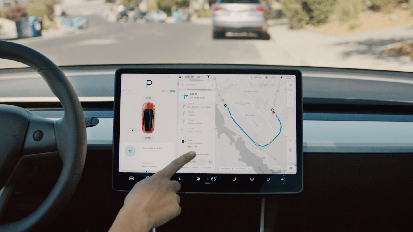 With Navigate with Autopilot engaged,the Teslawill suggest lane changes, navigate interchanges and take the correct exit