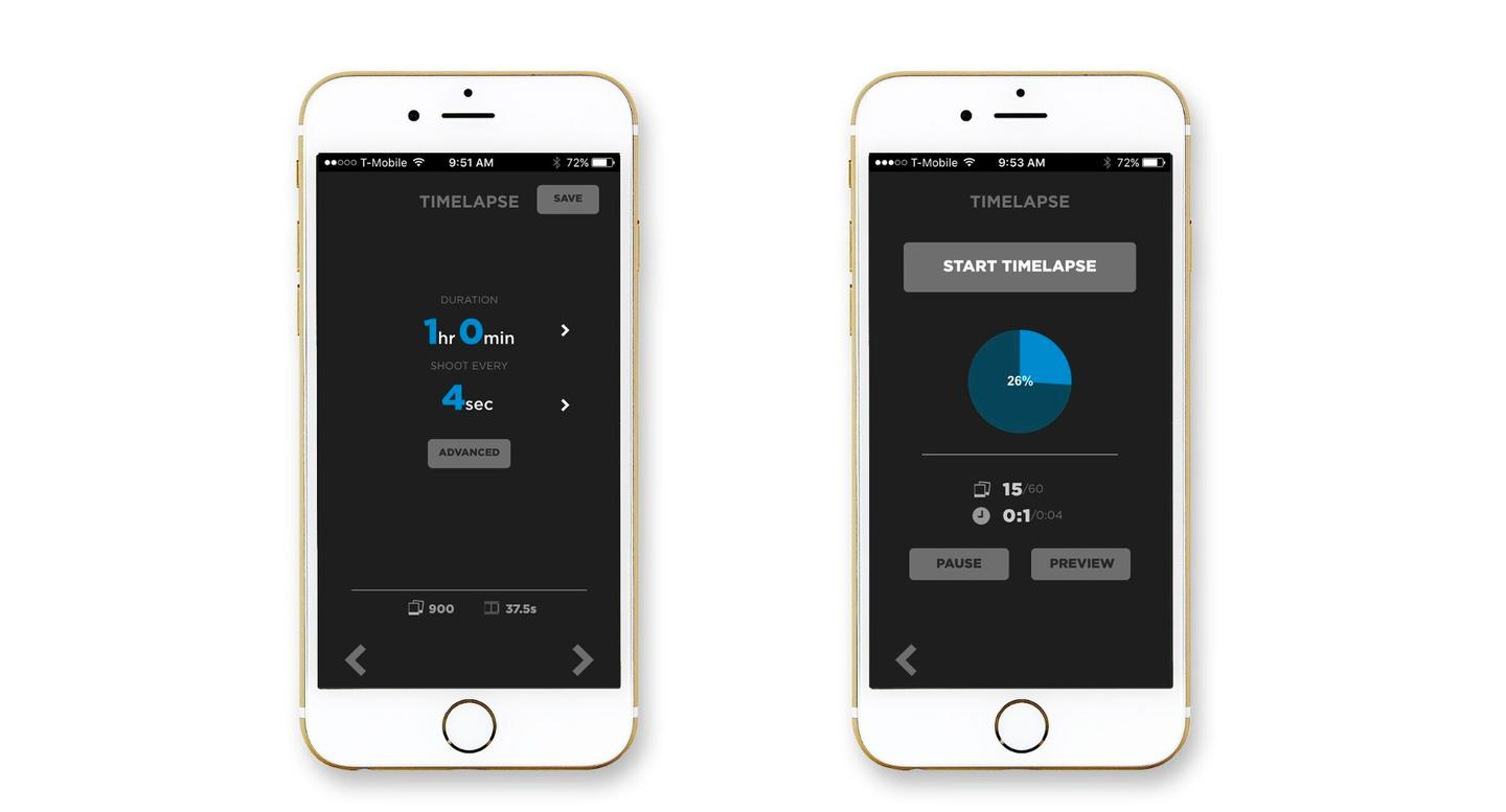 The app for the Pulse remote trigger can be used for shooting stills, videos, or time-lapse