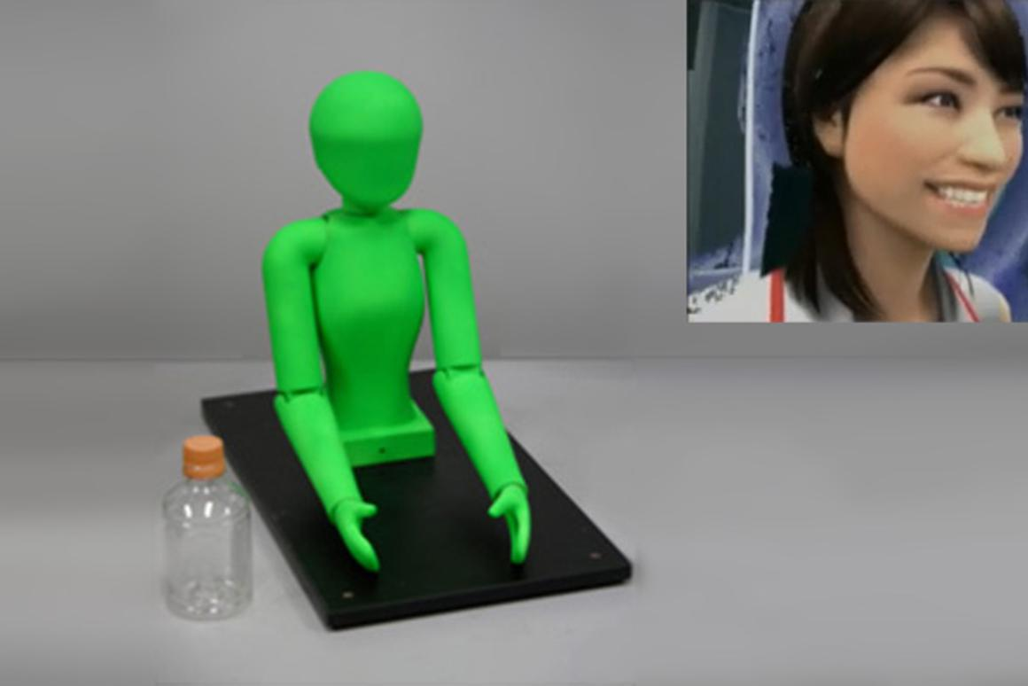 """The """"virtual humanoid"""" prototype will allow you to physically interact with a computer-generated character seen through a head-mounted display"""