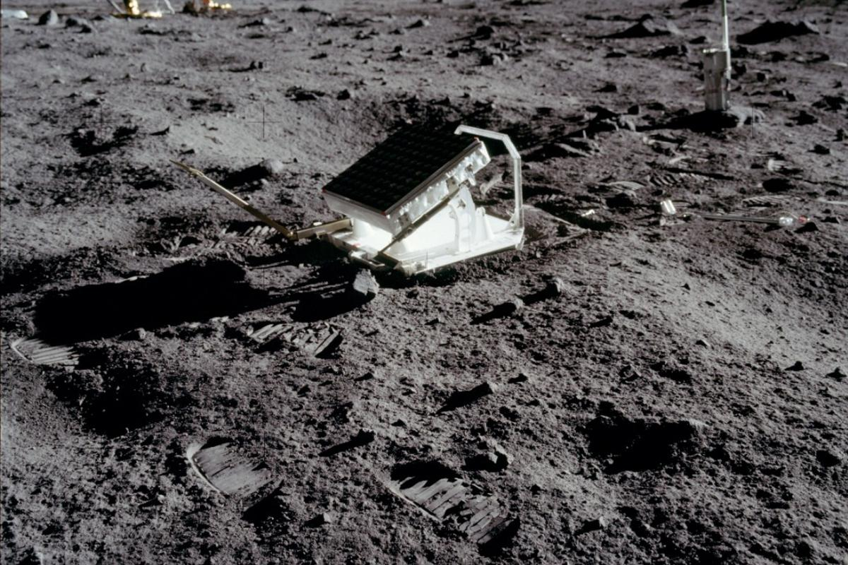 The first laser retroreflector experiment was placed on the Moon by the Apollo astronauts