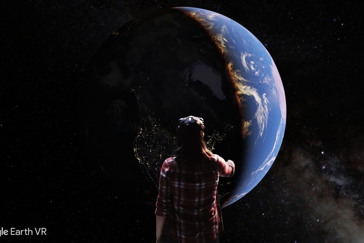 To begin with,Earth VRis launching on the HTC Vive