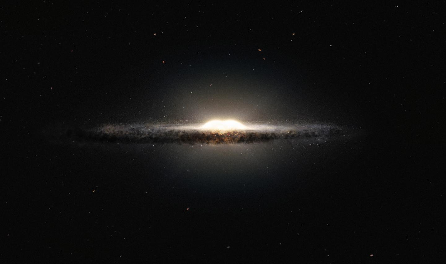 An artist's impression of the Milky Way galaxy showing its x-shaped core (Image: ESO)