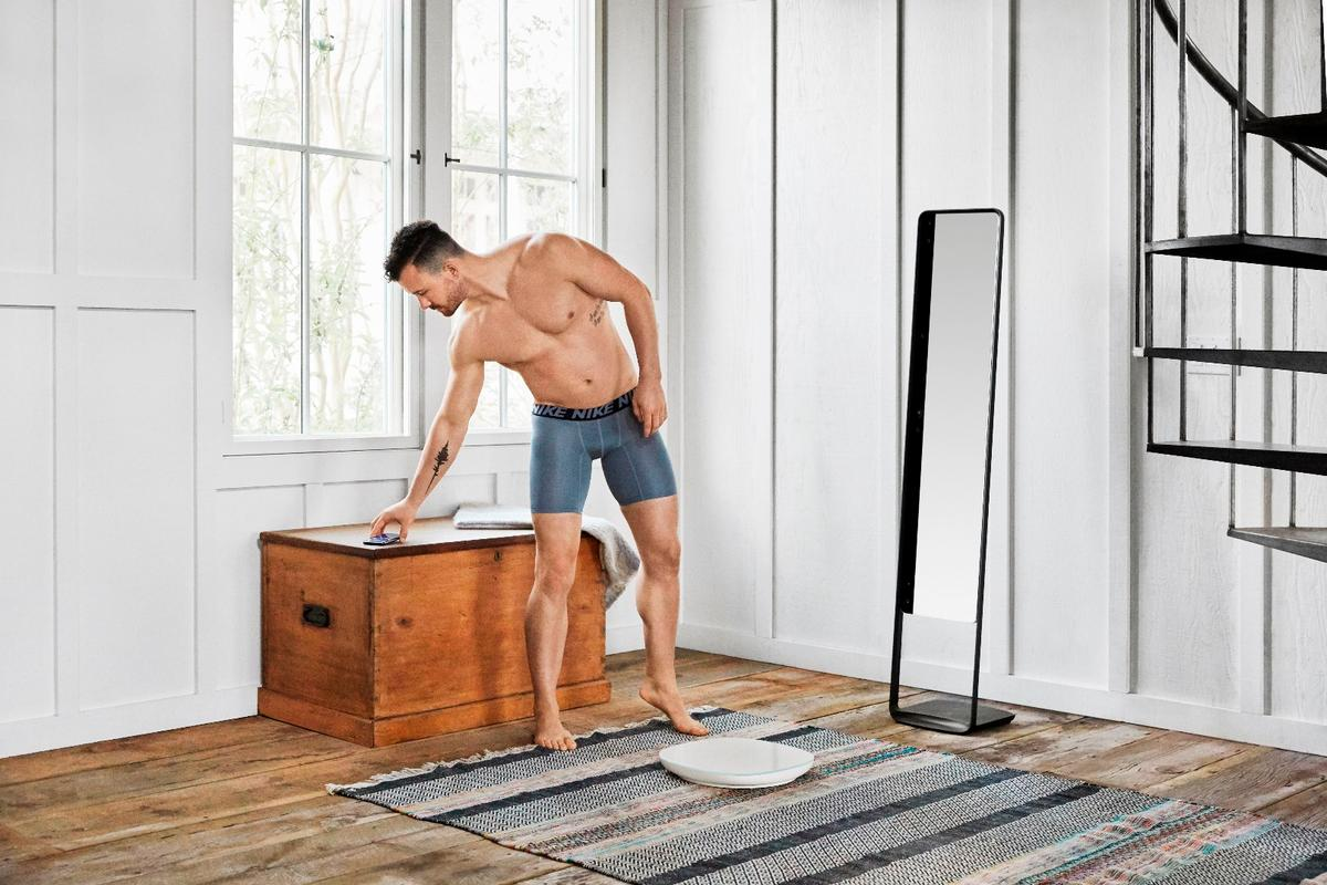 Naked smart mirror and scale