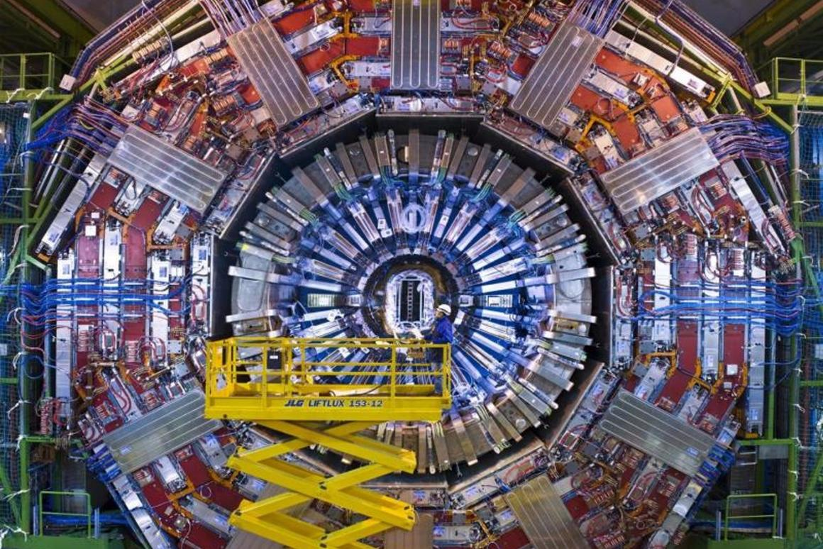 The Compact Muon Solenoid (CMS) general-purpose detector at the Large Hadron Collider was used in the warm up exercise (Image: CERN)