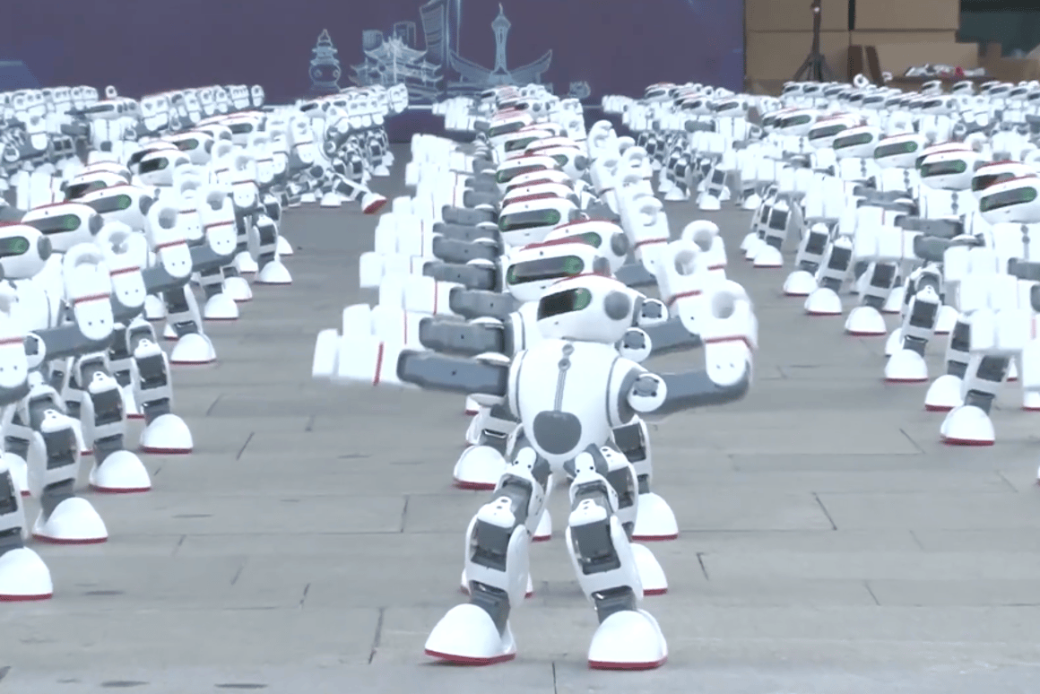 A new world record was set with 1,069 robots dancing simultaneously