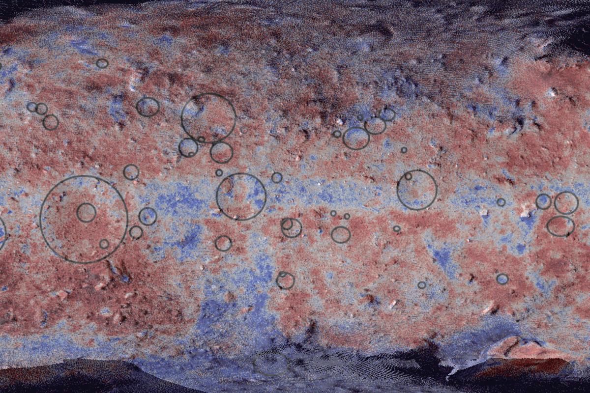 A false color map of Ryugu
