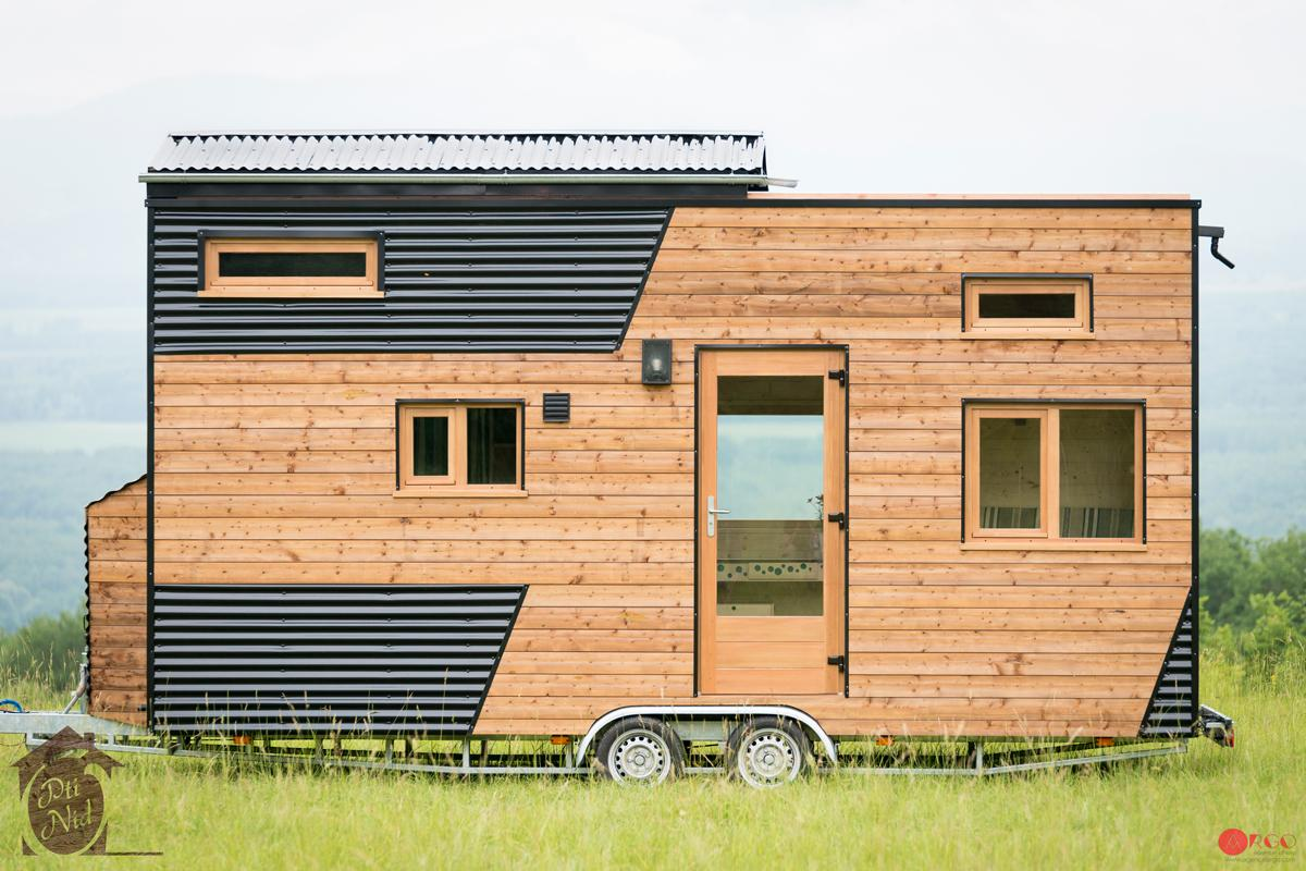 Here comes the sun: the Cécile tiny house's roof slides to open up the main bedroom to the elements