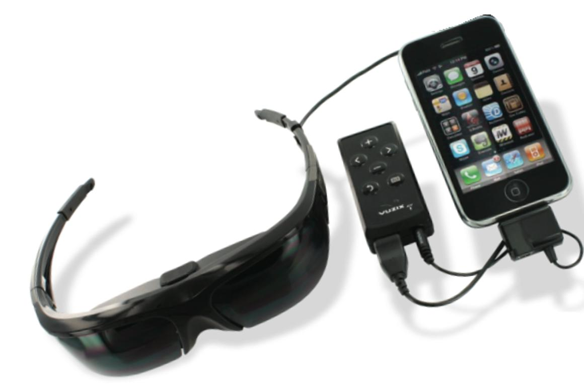 The Vuzix Wrap 920 glasses are compatible with many video devices to deliver a virtual cinema experience