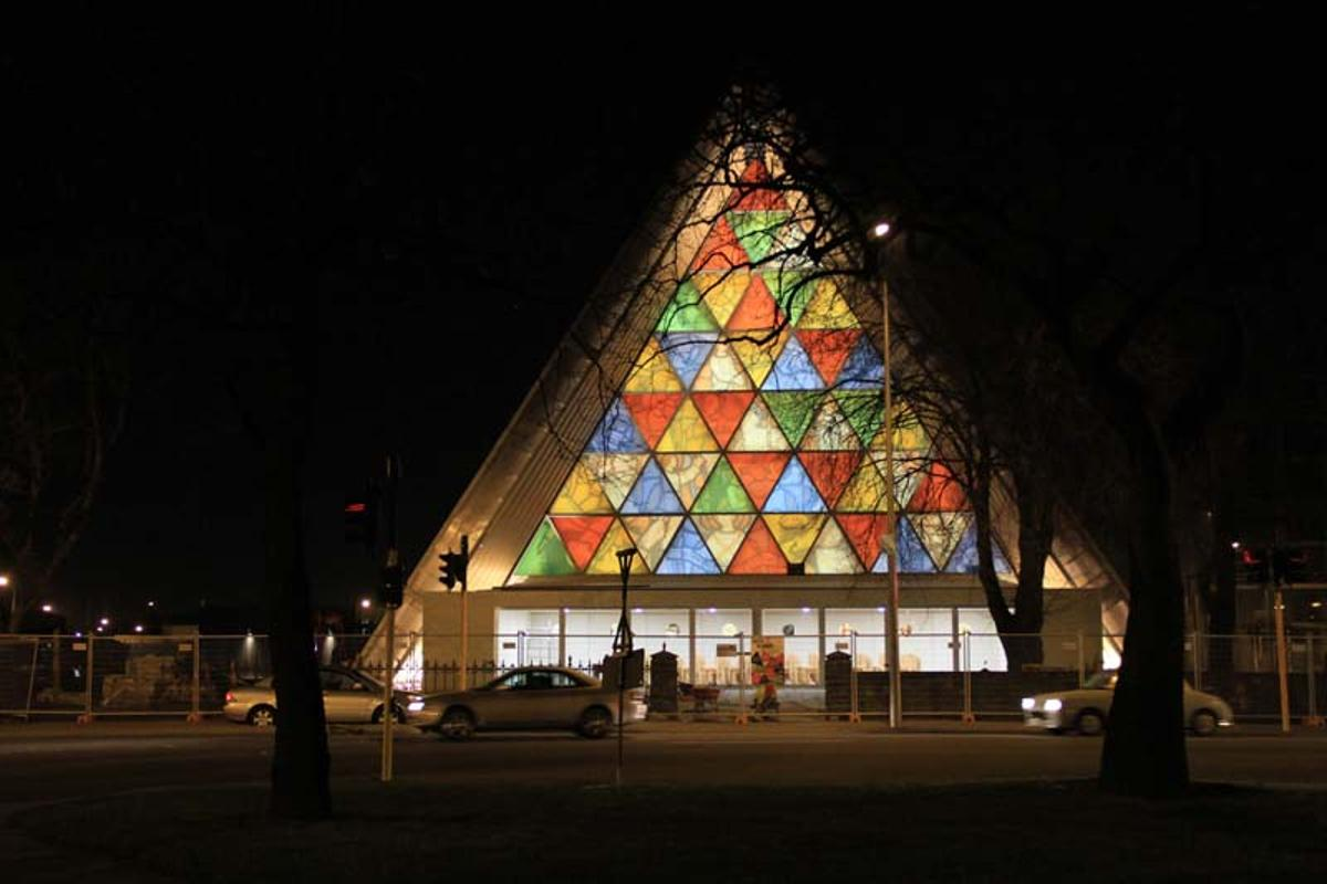Christchurch's new temporary cathedral (Photo: Shigeru Ban Architects)