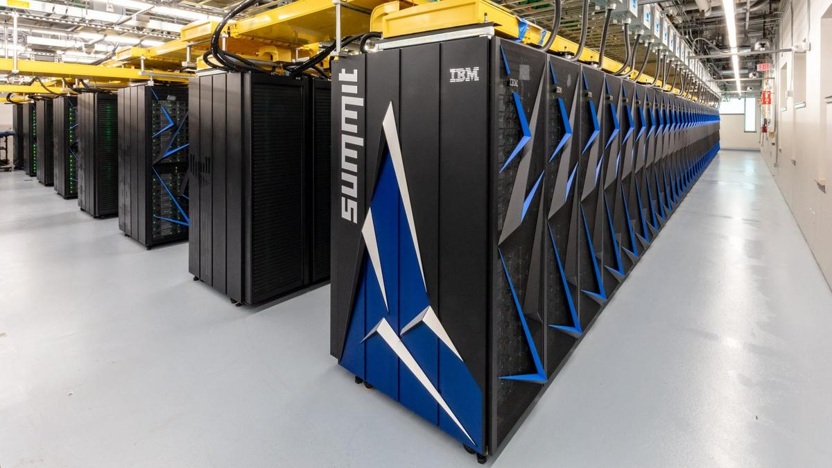 The Department of Energy's IBM supercomputer Summitholds the top spot, with a maximum recorded performance (Rmax) of 148,600.0 teraflops