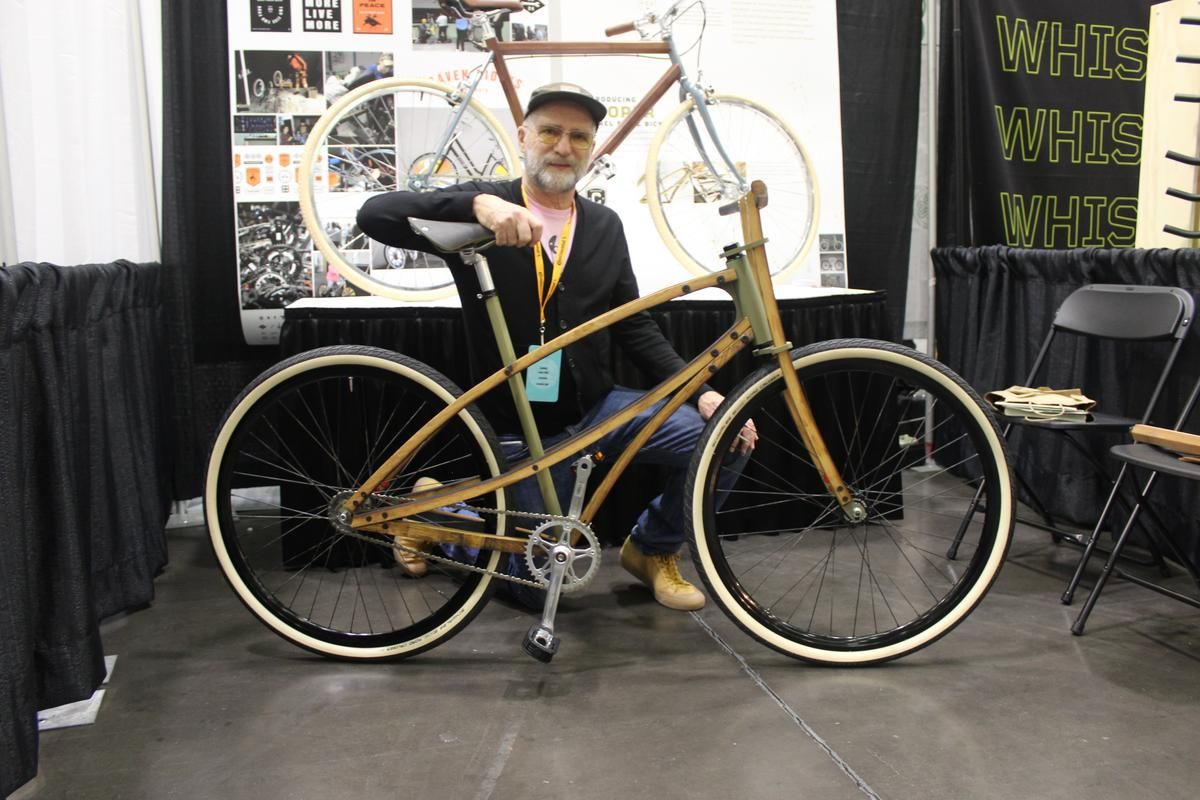 Lance Rake with the Cooper Bicycle at NAHBS 2019