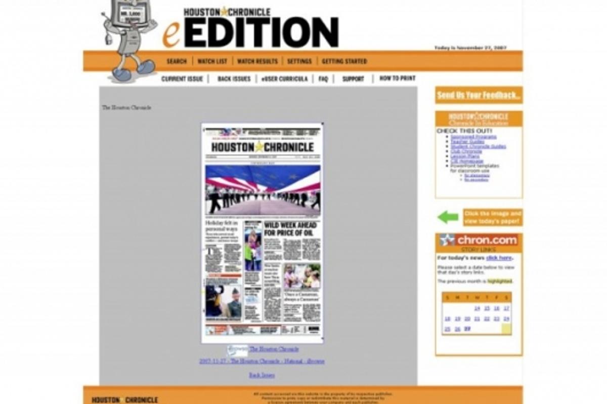Houston Chronicle eEdition