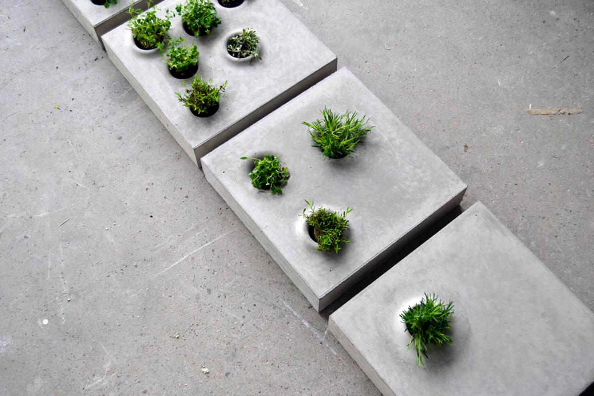 Grey to Green features several different designs which change the amount of vegetation allowed back into our cities