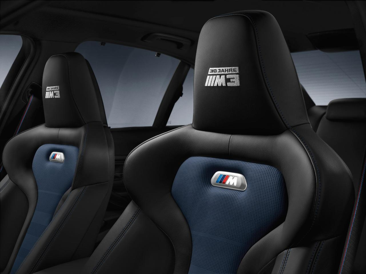 The M3's seats look like they mean business.
