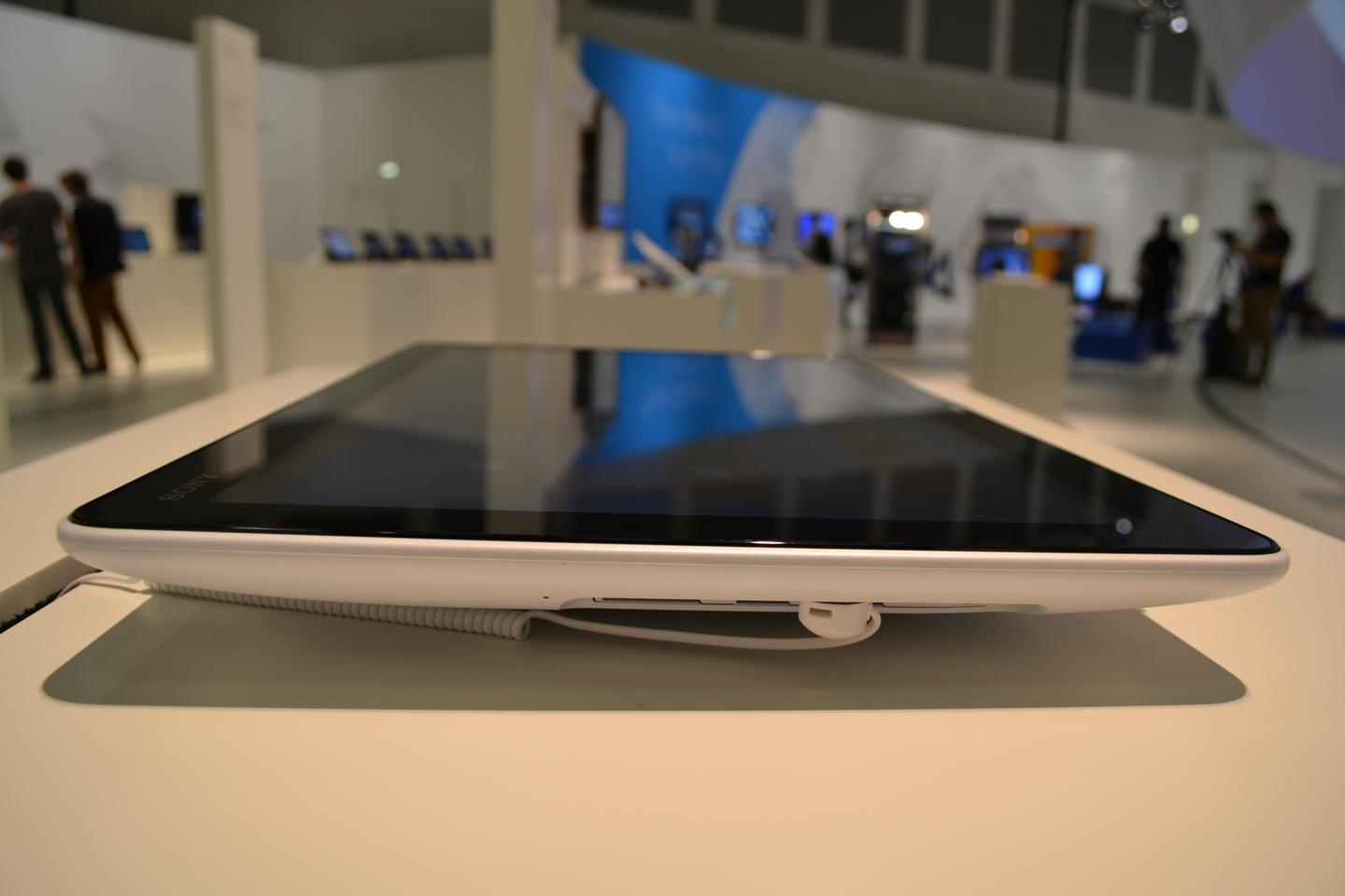From the side, the Tap 20 on display at IFA 2012 in Berlin