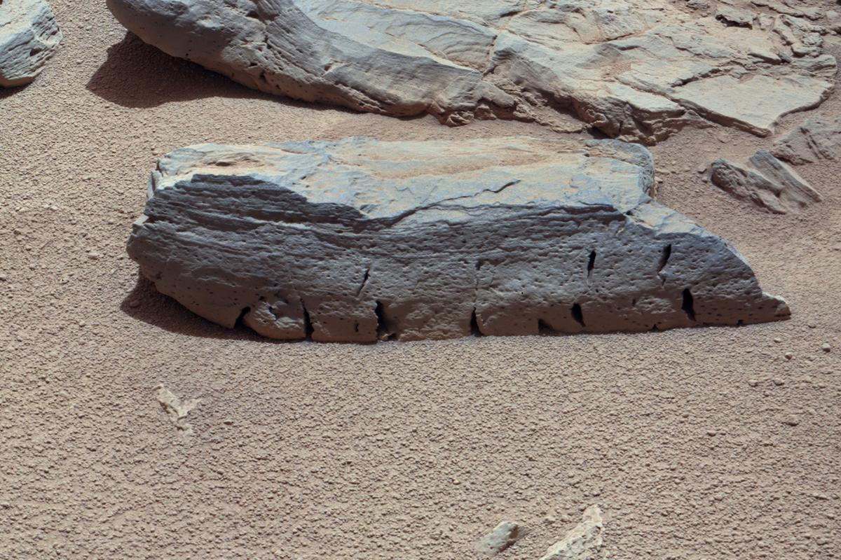 Martian rock called Rocknest 3, white-balanced to show what it would look like on Earth (Image: NASA/JPL-Caltech/Malin Space Science Systems)