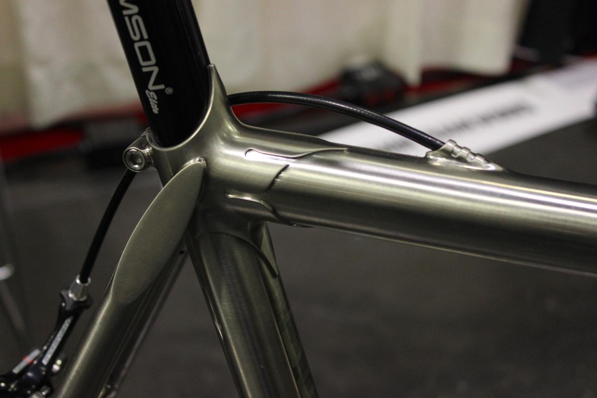 Demon Frameworks got this look by plating a steel frame in nickel, then rubbing antiquing fluid on it