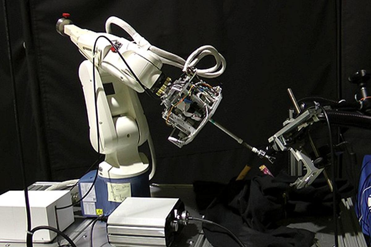 Robots and space technology may soon be saving children's lives thanks to KidsArm, a robotic arm designed for delicate pediatric surgery (Photo: MDA and CIGITI)