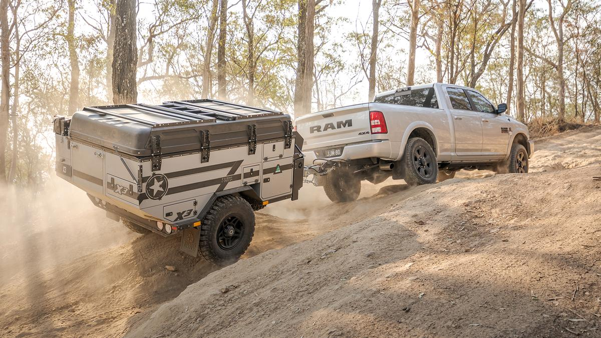 The Patriot X3 travels to campsites near and remote