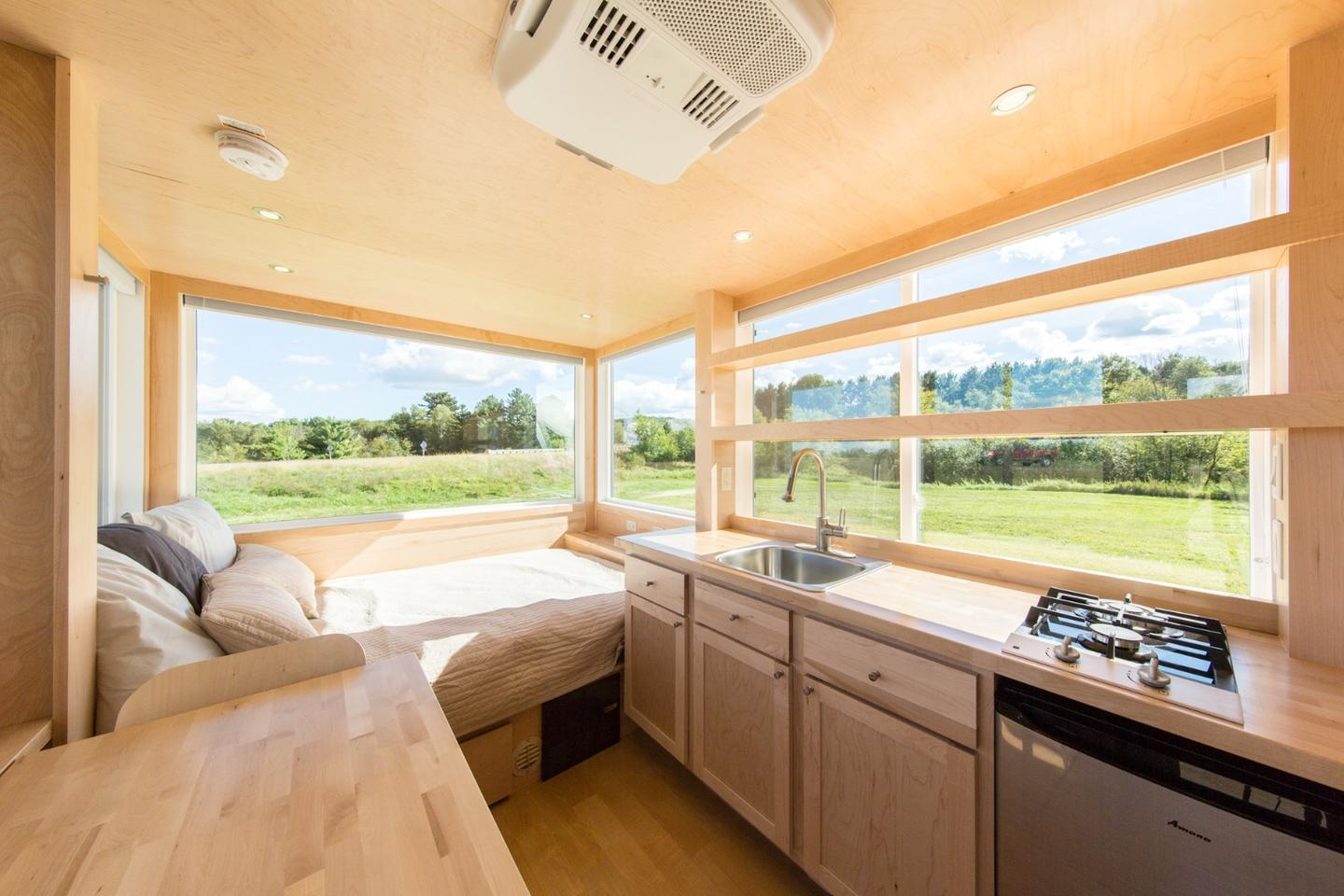 The VistaGo has just 136 sq ft (12.6 sq m) of floorspace