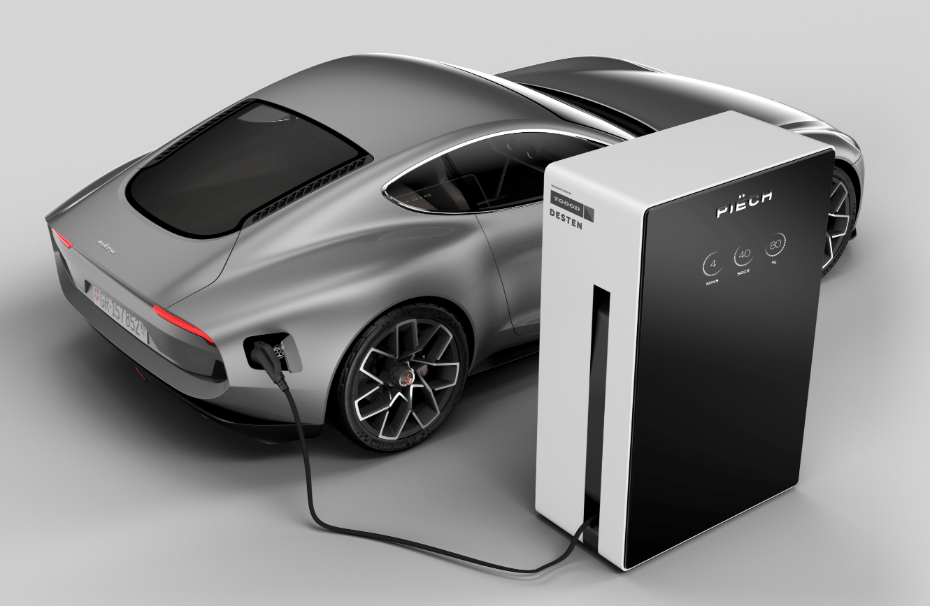 Piech and Desten will also sell you a 900-kilowatt ultracharger for your home, in case you don't plan to stay there more than five minutes