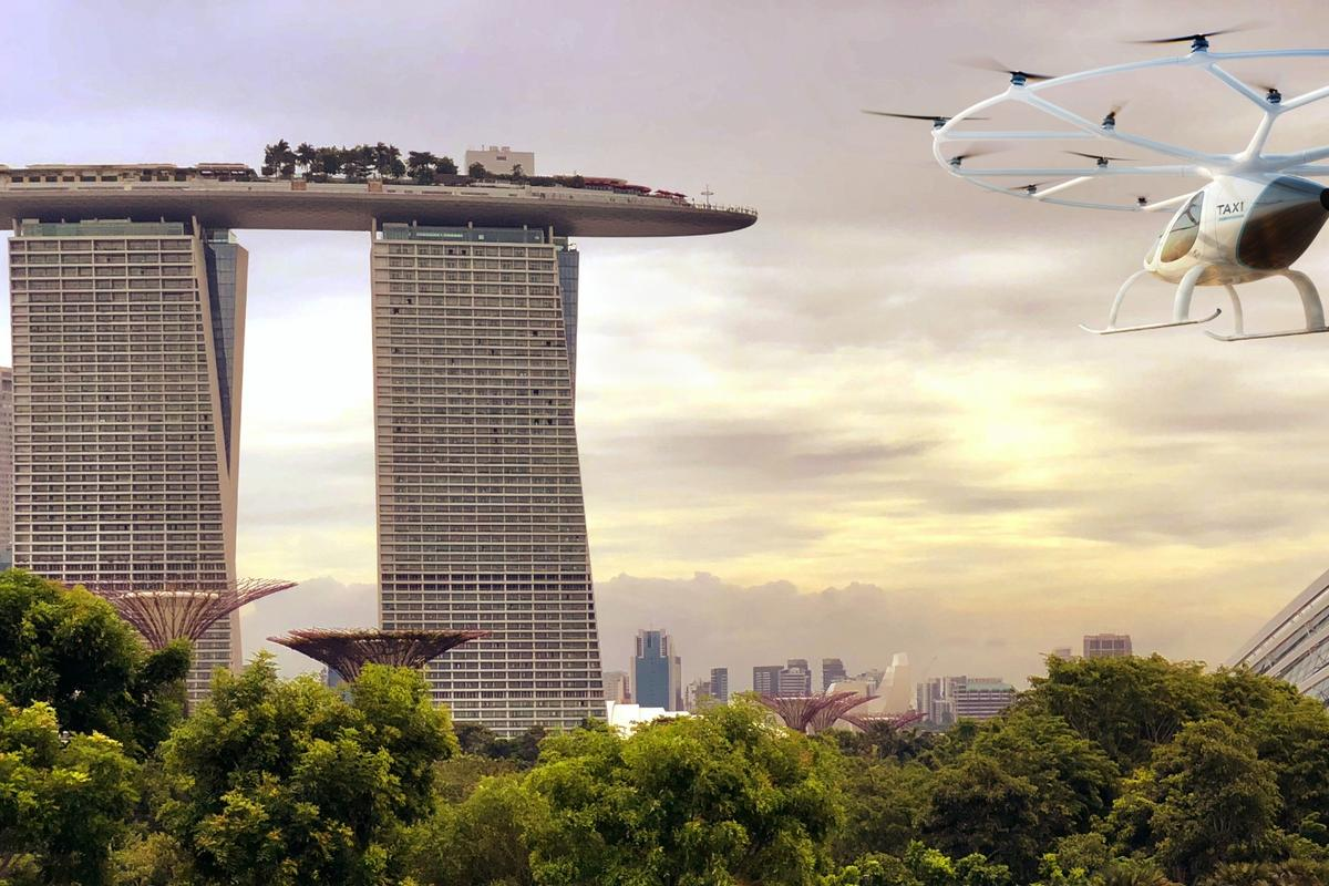 Voloctoper's plans for Singapore include tests flights for the second half of 2019
