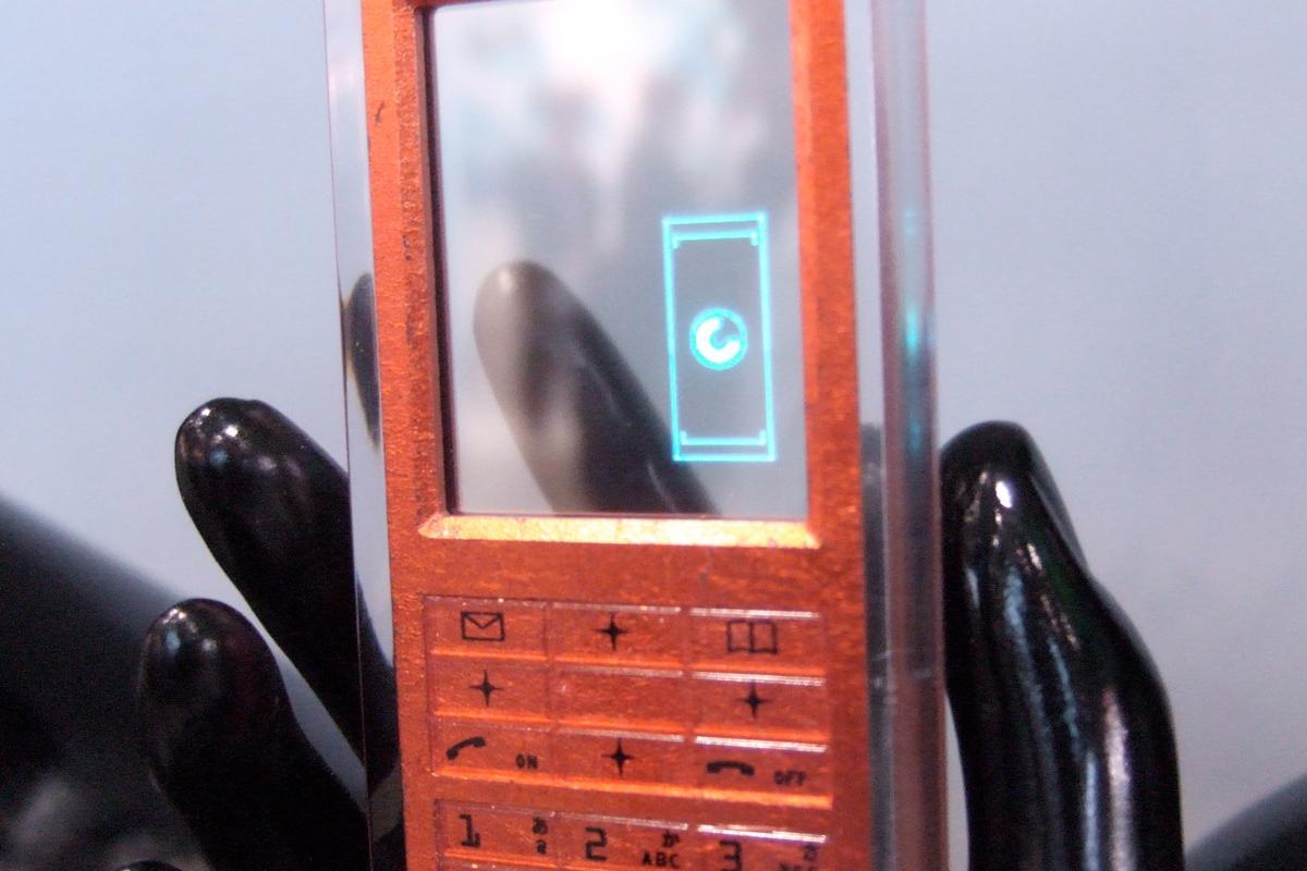 TDK's transparent OLED display