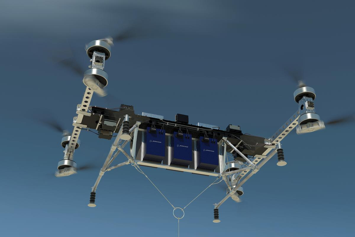 A rendering of the CAVin flight