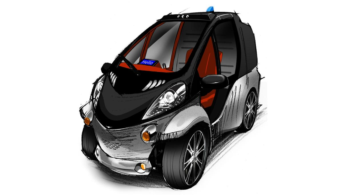 Conceptual image of the Toyota Smart Insect (front)