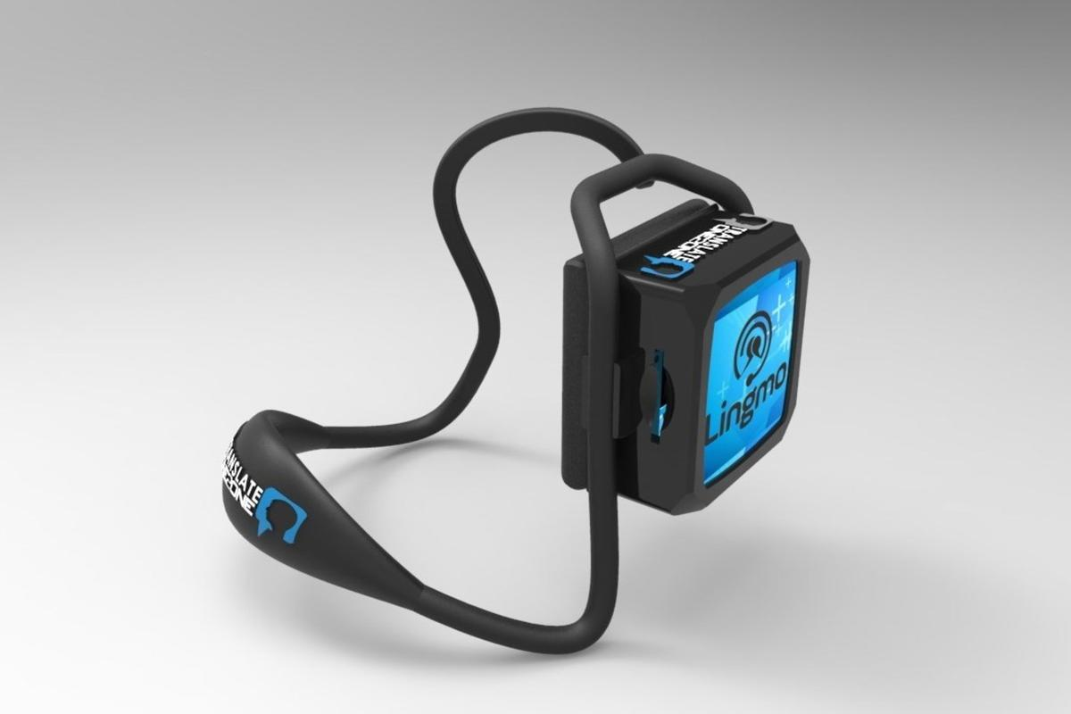 The Translate One2One earpiece can translate eight languages without Bluetooth or Wi-Fi connectivity