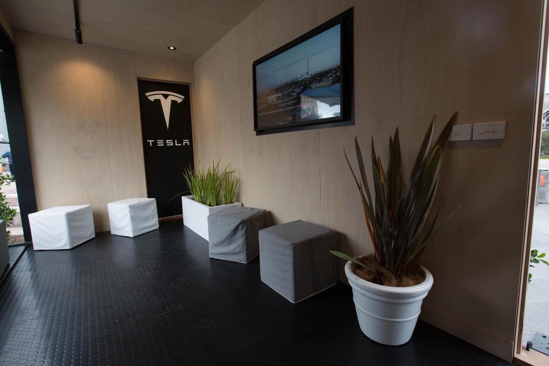 The interior of the Tesla Tiny House