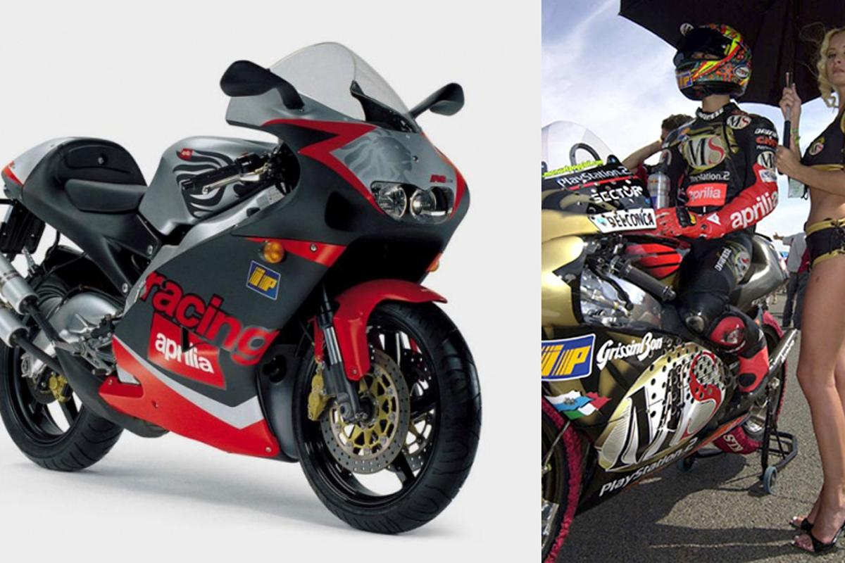 Aprilia didn't enter racing until the late eighties, winning its first GP in 1987, its first 125 title in 1992 and its first 250 title in the hands of Max Biaggi in 1994 and since that time the majority of bikes on the 125 and 250 World Championship grids have been produced by Aprilia. The need for harsher emission standards for road-going machinery was having an opposite effect on the two-stroke's success on the road however.